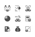 set icons investment vector image vector image