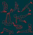 Set of exercises poses for women vector image