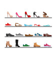 set of shoes collection men s vector image