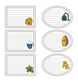 set of stickers of the cleanup concept vector image vector image