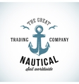 simple anchor retro logo template for any kind vector image