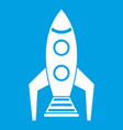 space rocket icon white vector image vector image