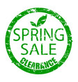 spring sale clearance rubber stamp texture for ad vector image vector image