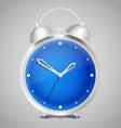 Steel modern alarm clock vector image