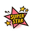 super star banner or sticker vector image vector image
