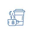 tea party line icon concept tea party flat vector image