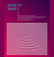 template poster design white lines stripes and vector image vector image