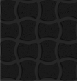 Textured black plastic arched solid rectangles vector image