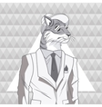 tiger animal hipster style triangule background vector image