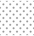 tile pattern with black dots on seamless white vector image vector image