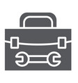tool box glyph icon repair and maintenance tool vector image vector image