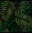 tropical seamless pattern with palm leaves modern vector image