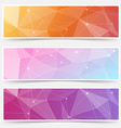 Web shining crystal structure banner headers vector image vector image