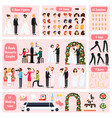 wedding people orthogonal character constructor vector image