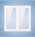 white plastic window vector image