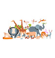 zoo banner template vector image vector image