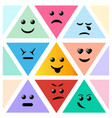 set smiley icon creative cartoon style smiles vector image