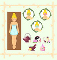 woman spa design flat face beauty cosmetic and vector image
