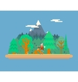 Lumberjack in wood under Mountain Concept vector image