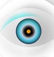 Globe blue eye vector image