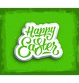 Happy Easter hand lettering text vector image