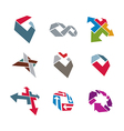 Abstract creative business icons collection vector image vector image
