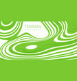 abstract green paper cut terrain paper sclices vector image vector image
