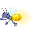 adorable cartoon firefly waving vector image vector image