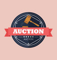 auction badge design vector image vector image