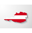 Austria map with shadow effect vector image