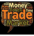 Awesome Reasons to Trade Forex text background vector image vector image