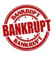 bankrupt sign or stamp vector image