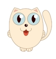 beige funny fatty cat vector image