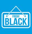 black friday signboard icon white