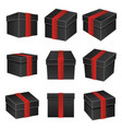 black paper cardboard package boxes isometric pack vector image vector image