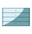 blue shading silhouette of wooden board with vector image vector image