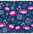 Bright pattern flamingos vector image vector image