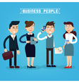 Business People Businessman and Businesswoman vector image vector image