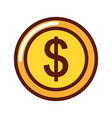coin money dollar icon vector image vector image