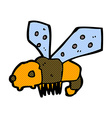 comic cartoon bee vector image vector image