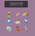creative isometric icon vector image