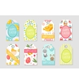 Cute Easter tags set Labels collection with vector image vector image