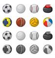 design sport and ball logo set sport vector image vector image