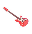 electronic guitar musical instrument icon vector image vector image