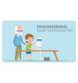 engineering smart technology toy innovation vector image vector image