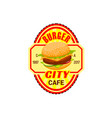 fast food burger restaurant icon vector image vector image