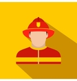 Fireman flat icon vector image vector image