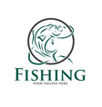 fishing logo designs vector image