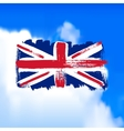 Flag of Great Britain against the sky vector image vector image