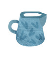 flat icon of bright blue jug with texture vector image